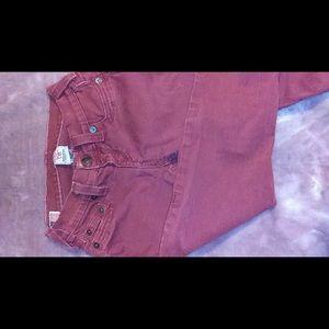 Burgundy true religion jeans